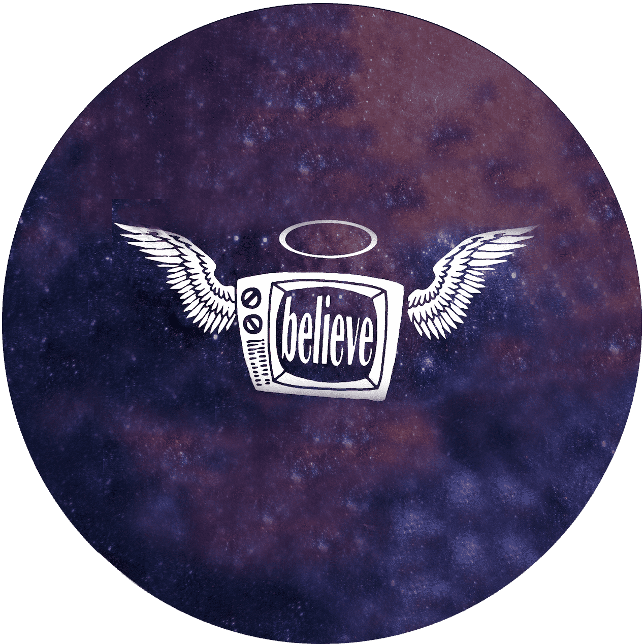 Believe wings circular icon 1